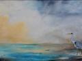 """Heron on the River Carron"" by Aileen Wheeler"