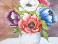 """""""Posy of Anemones"""" by Anne Whigham"""