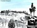 """Edinburgh Castle in winter"" by Louise Finlayson"