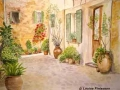 """Majorcan Courtyard"" by Louise Finlayson"