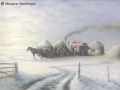 """""""Threshing on a frosty morning at Bothkennar"""" by Margaret MacGregor"""