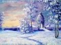 """Winter sunrise at Dunmore Pineapple"" by Margaret MacGregor"