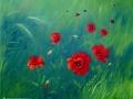 """Poppies beside the barley field"" by Margaret MacGregor"