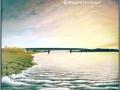 """Sunrise over Clackmannanshire Bridge"" by Margaret MacGregor"