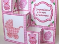 """Baby Girl"" - handmade card - by Margaret McCartney"