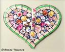 """""""Heart of flowers"""" by Rhona Torrance"""