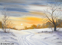 """""""Winter sunset"""" by Galyna Lee"""