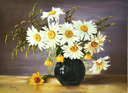 """""""Daises in a vase"""" by Galyna Lee"""