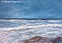 """Tide's Out"" by Sandy Ferguson - (Textile)"