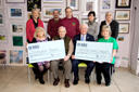 Presentation of cheques, Torwood Garden Centre, 15th March 2014