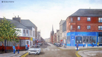"""""""Saturday morning shoppers, Alloa"""" by Bobby Rennie"""