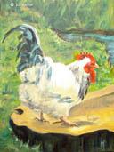 """""""Cockerel"""" by Liz Walker"""