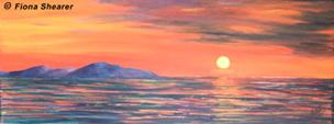 """Sunset over Arran"" by Fiona Shearer"