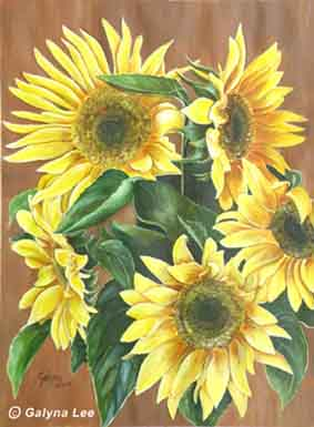 """""""Sunflowers"""" by Galyna Lee"""
