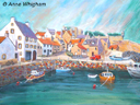 """""""Crail Harbour"""" by Anne Whigham"""