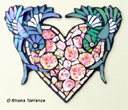 """Love birds"" (Mosaic) by Rhona Torrance"