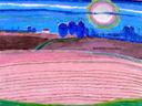 """Pink fields"" by Teresa Majorek"