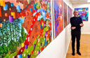 Bobby Rennie at his Solo exhibition